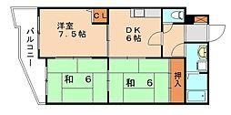 トネハイツ[3階]の間取り