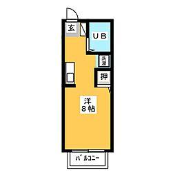ボナールハウス[1階]の間取り