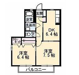 メゾンアンジュ[2階]の間取り