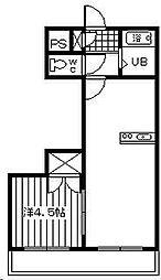 コスタ吉村[203号室]の間取り