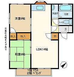 メゾンヨシコーA 203[2階]の間取り
