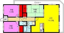 ブランチ913[3階]の間取り