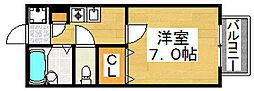 パセオ西之町[2階]の間取り