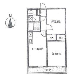 サンライトツチヤ[3階]の間取り