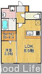 エンクレスト 博多駅東 II[5階]の間取り