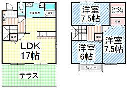 [テラスハウス] 長野県長野市大字安茂里 の賃貸【/】の間取り