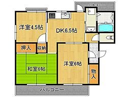 新賀暁マンション[3階]の間取り