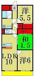 フルネスサヤマ[4階]の間取り