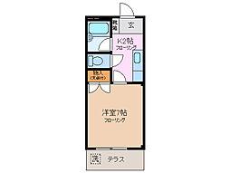 ピースハウス[1階]の間取り