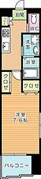 福岡県北九州市小倉南区徳力1の賃貸マンションの間取り