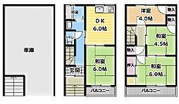 [一戸建] 大阪府門真市巣本町 の賃貸【/】の間取り
