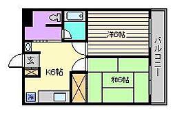 ガーデンプラザ北千住[4階]の間取り