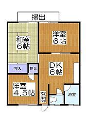 藤ハイツ3[2階]の間取り
