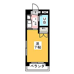 第5塚本ハイツ[3階]の間取り