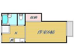 東京都豊島区駒込3丁目の賃貸アパートの間取り
