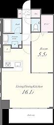 N residence SUMIYOSHI[101号室]の間取り