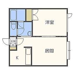 コリンズ42[3階]の間取り