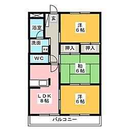 第2SKハイツ[1階]の間取り