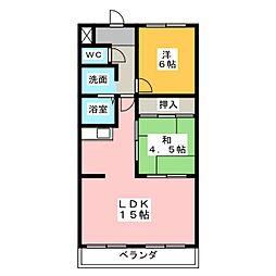ファミール横地[3階]の間取り