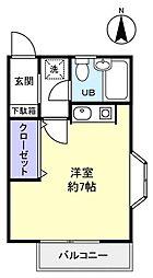 レジデンスパインヒル[2階]の間取り