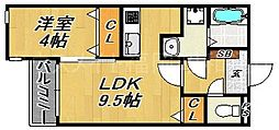 Kag.R大濠I[2階]の間取り