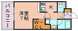 エンクレストGRAN博多駅前[8階]の間取り