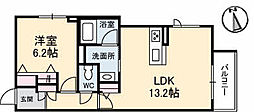 高松琴平電気鉄道長尾線 林道駅 徒歩1分の賃貸マンション 2階1LDKの間取り