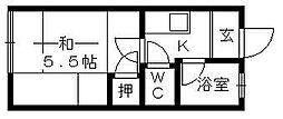 名倉アパート[206号室]の間取り
