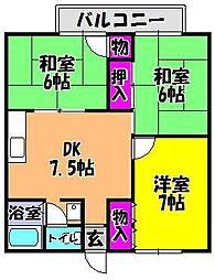 ハイツ藤沢[1階]の間取り