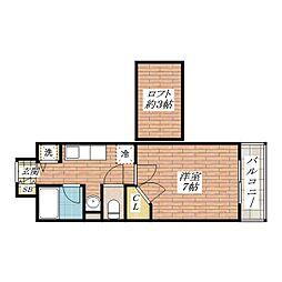 大阪府茨木市東奈良2の賃貸マンションの間取り