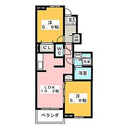 モデラート65[1階]の間取り