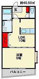 アベニュー清納[4階]の間取り