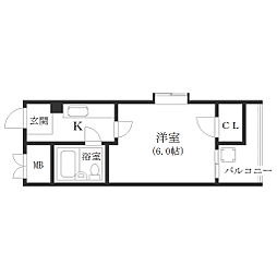 大阪府大阪市西成区天下茶屋3の賃貸マンションの間取り