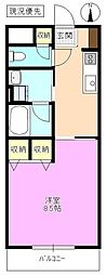 長野県松本市小屋南1丁目の賃貸マンションの間取り