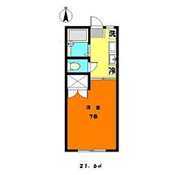 千葉県千葉市中央区松波2丁目の賃貸アパートの間取り