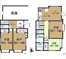 [一戸建] 神奈川県藤沢市辻堂3丁目 の賃貸【/】の間取り