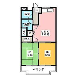 ルイール21[1階]の間取り