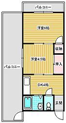 コーポ吉野屋[403号室]の間取り