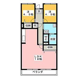 V・スクエア[2階]の間取り