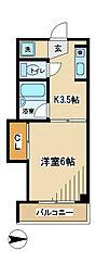 東京都府中市住吉町1丁目の賃貸マンションの間取り