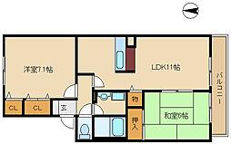 ジュネス武庫之荘3[2階]の間取り
