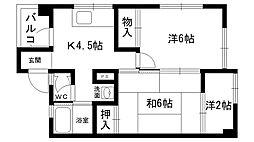 東雲マンション A棟・B棟[B302号室]の間取り