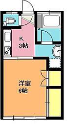 埼玉県上尾市大字久保の賃貸アパートの間取り