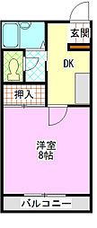 千葉県船橋市上山町3丁目の賃貸アパートの間取り