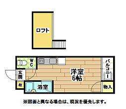 ソフィ21緑ヶ丘[1階]の間取り