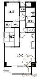 梅田プレミアムコート[9階]の間取り