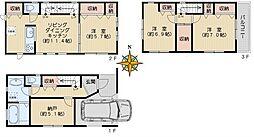 [一戸建] 東京都文京区小石川3丁目 の賃貸【/】の間取り