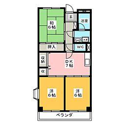 エクセル島崎[1階]の間取り