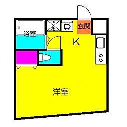 タウンハウスアイワ[4B号室号室]の間取り