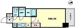 プレサンス難波インフィニティ 6階1Kの間取り